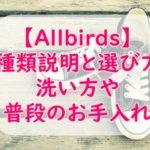 オールバーズ(Allbirds)の洗い方やメンテナンス方法!選び方のおすすめも